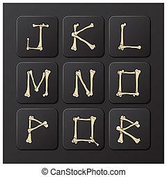 Bones Alphabets Set 2