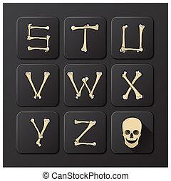 Bones Alphabets Set 3