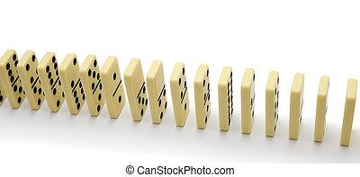 Bones of a dominoe built in a number