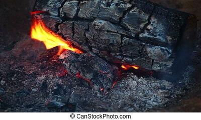 Bonfire Flame - bonfire flame close up
