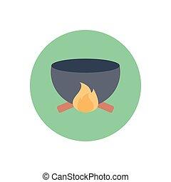 bonfire  flat color icon