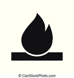 Bonfire Icon. Campfire with Firewood Sign and Symbol. Fire.