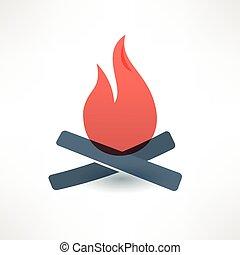 Bonfire icon. Logo design.