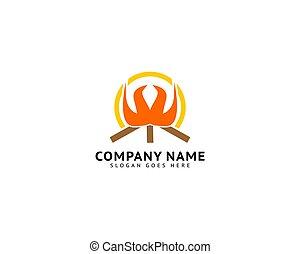 Bonfire icon logo vector illustration