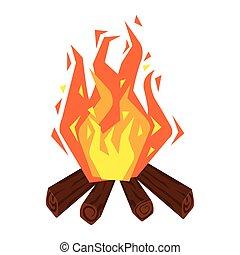 bonfire icon on white background