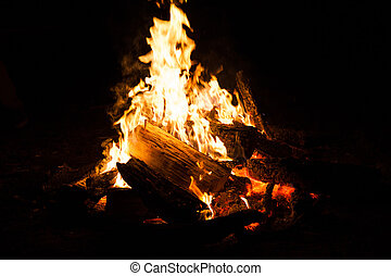 Bonfire in the nature.