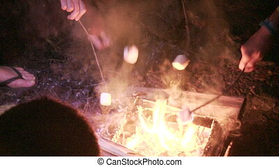 bonfire marshmallow - Shot of bonfire marshmallow