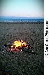 Bonfire on a Beach