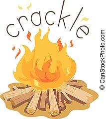 Bonfire Onomatopoeia Sound Crackle Illustration