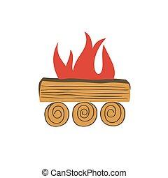 Bonfire simple icon