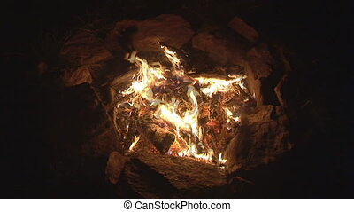 bonfire topview - topview of blazing and only slightly...