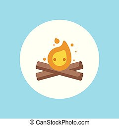 bonfire vector icon sign symbol