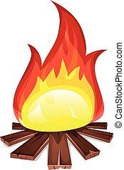 Bonfire With Wood Burning