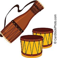 bongo, bata, tambours