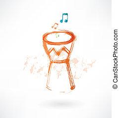 bongo drum grunge icon