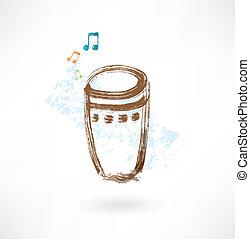 bongo, grunge, icono