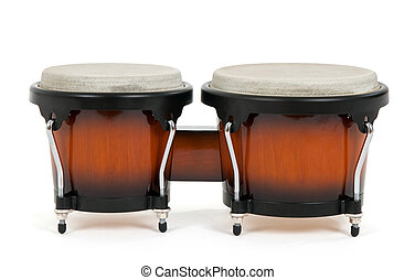 bongos, białe tło