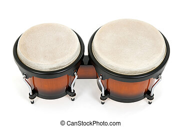 Bongos isolated on white