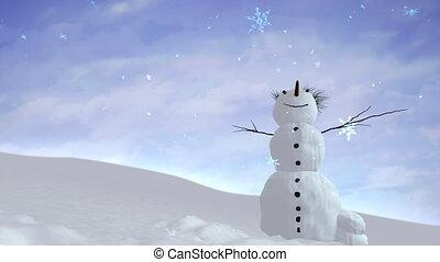 bonhomme de neige, ciel