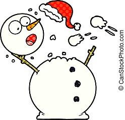 bonhomme de neige, combat snowball