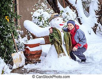 bonhomme de neige, confection