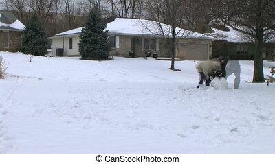 bonhomme de neige, défaillance, temps