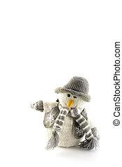 bonhomme de neige, dans, hiver