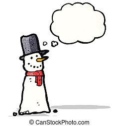 bonhomme de neige, dessin animé