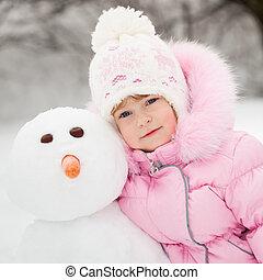 bonhomme de neige, enfant