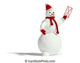 bonhomme de neige, enveloppe