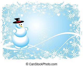 bonhomme de neige, grunge, noël scène