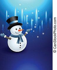 bonhomme de neige, heureux