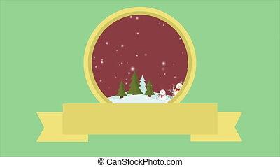 bonhomme de neige, métrage, paysage, noël, joyeux