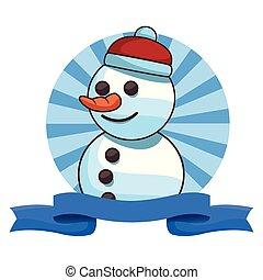 bonhomme de neige, noël, dessin animé