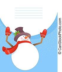 bonhomme de neige, noël, dos
