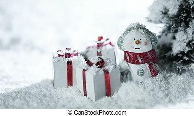 bonhomme de neige, noël, neige, dons, sous