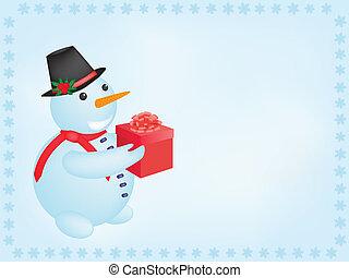 bonhomme de neige, présent