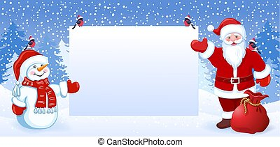 Bonhomme De Neige Rigolote Père Noël Dessin Animé Fond