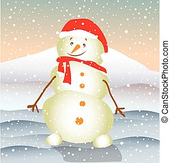 bonhomme de neige, sourire