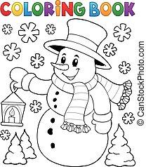 bonhomme de neige, topic, 2, livre coloration