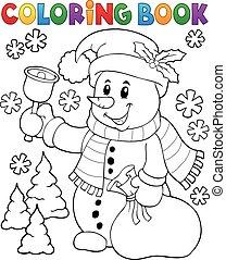 bonhomme de neige, topic, 3, livre coloration