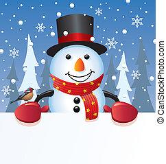 bonhomme de neige, vecteur