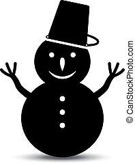 bonhomme de neige, vecteur, icône