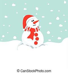 bonhomme de neige, winter., noël, symbole.
