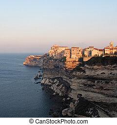 Bonifacio at sunrise, Corsica, France