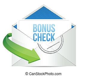 bonification, enveloppe, chèque