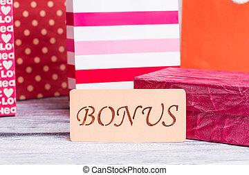 bonification, inscription, achats, carte, bags.
