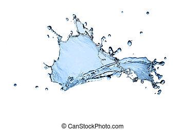 bonito, água, respingo, congelar