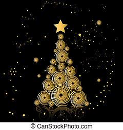 bonito, árvore, natal