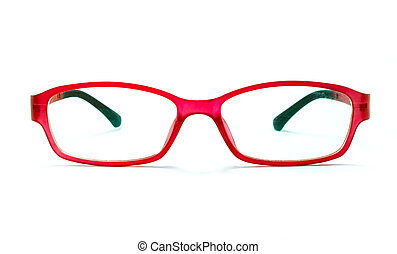 bonito, óculos, isolado